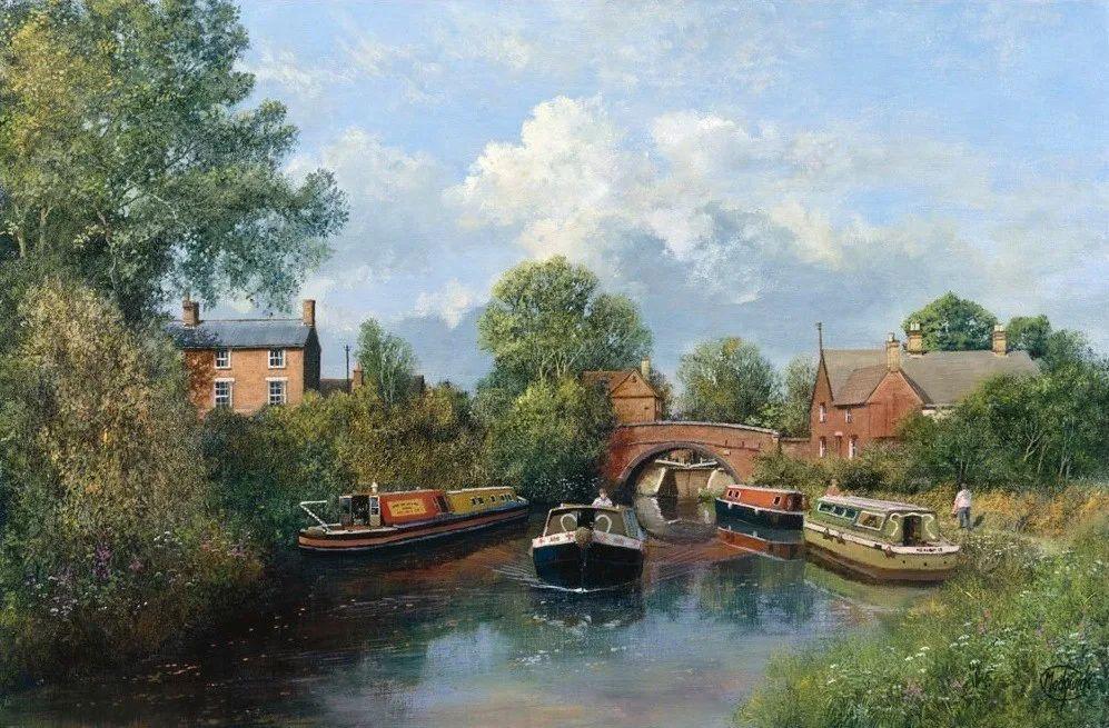 建筑风景,英国艺术家克莱夫·麦格威克插图28