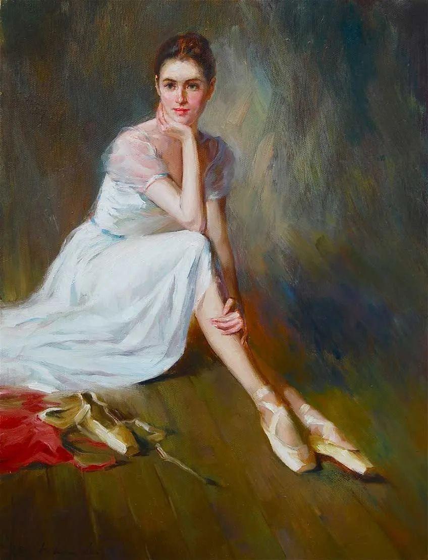 他画中的舞女,有种静谧的美!美籍华裔画家凯文·雷插图1