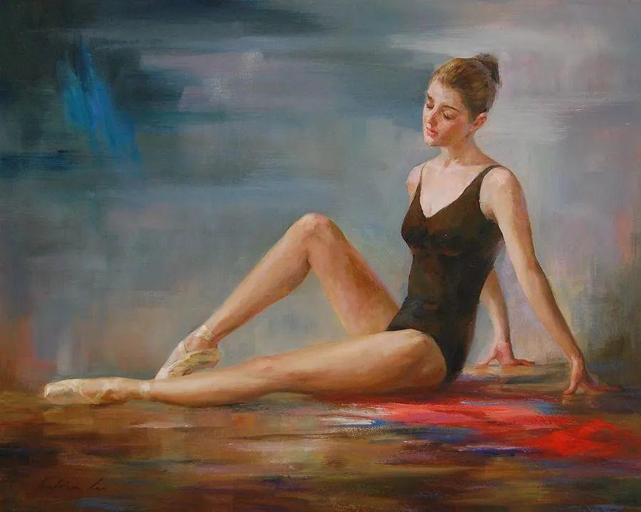 他画中的舞女,有种静谧的美!美籍华裔画家凯文·雷插图4