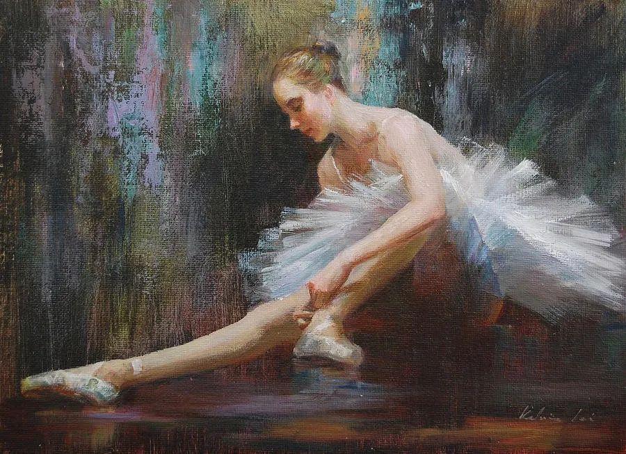 他画中的舞女,有种静谧的美!美籍华裔画家凯文·雷插图5