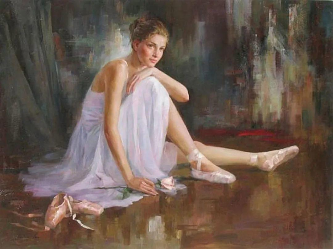 他画中的舞女,有种静谧的美!美籍华裔画家凯文·雷插图6