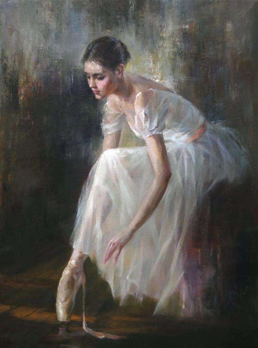 他画中的舞女,有种静谧的美!美籍华裔画家凯文·雷插图7