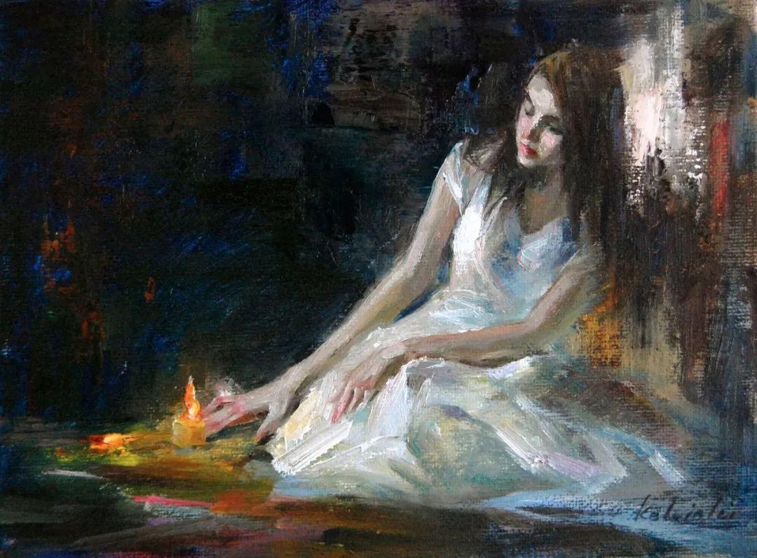 他画中的舞女,有种静谧的美!美籍华裔画家凯文·雷插图8