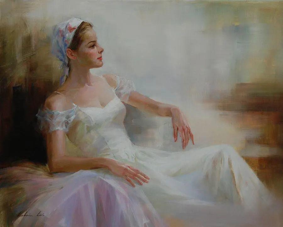 他画中的舞女,有种静谧的美!美籍华裔画家凯文·雷插图9