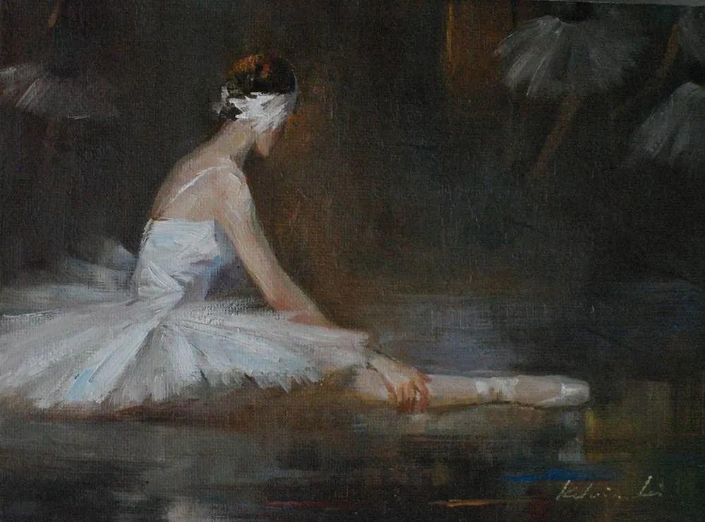 他画中的舞女,有种静谧的美!美籍华裔画家凯文·雷插图11