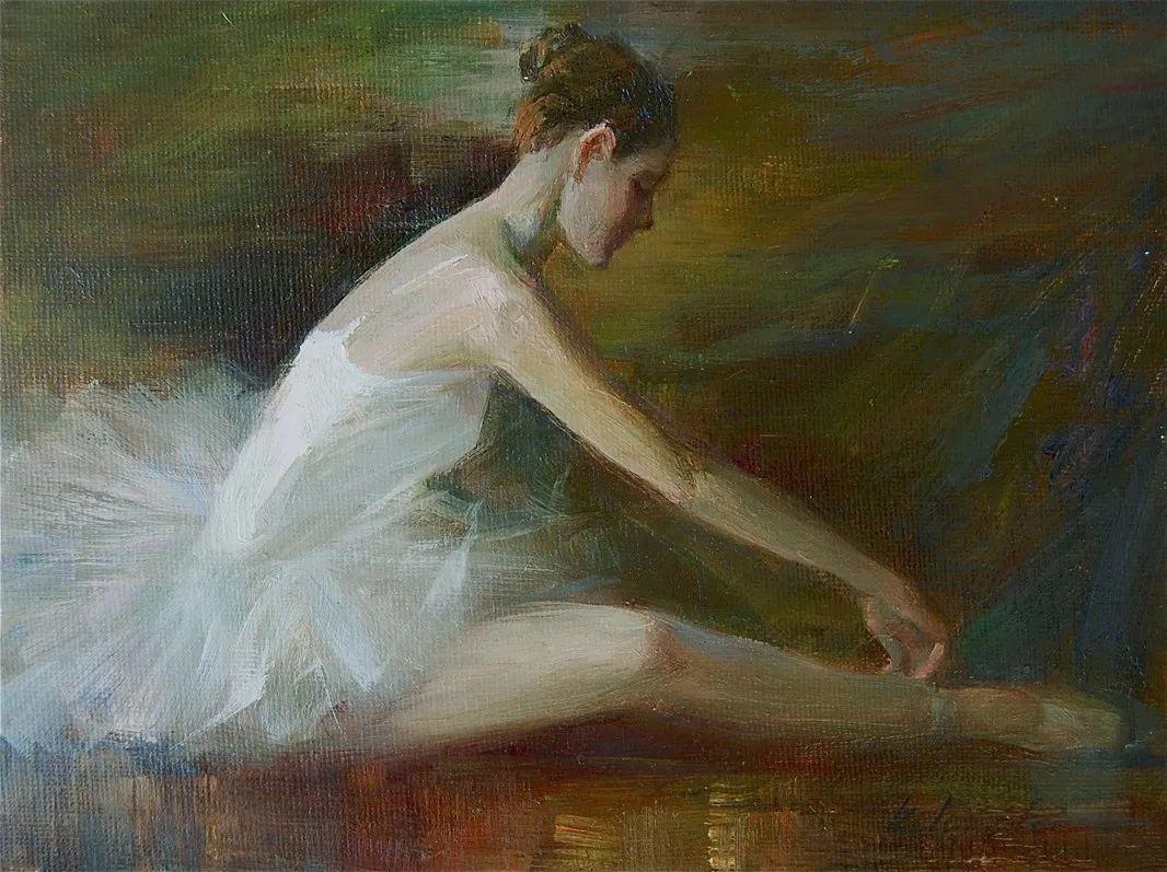 他画中的舞女,有种静谧的美!美籍华裔画家凯文·雷插图12