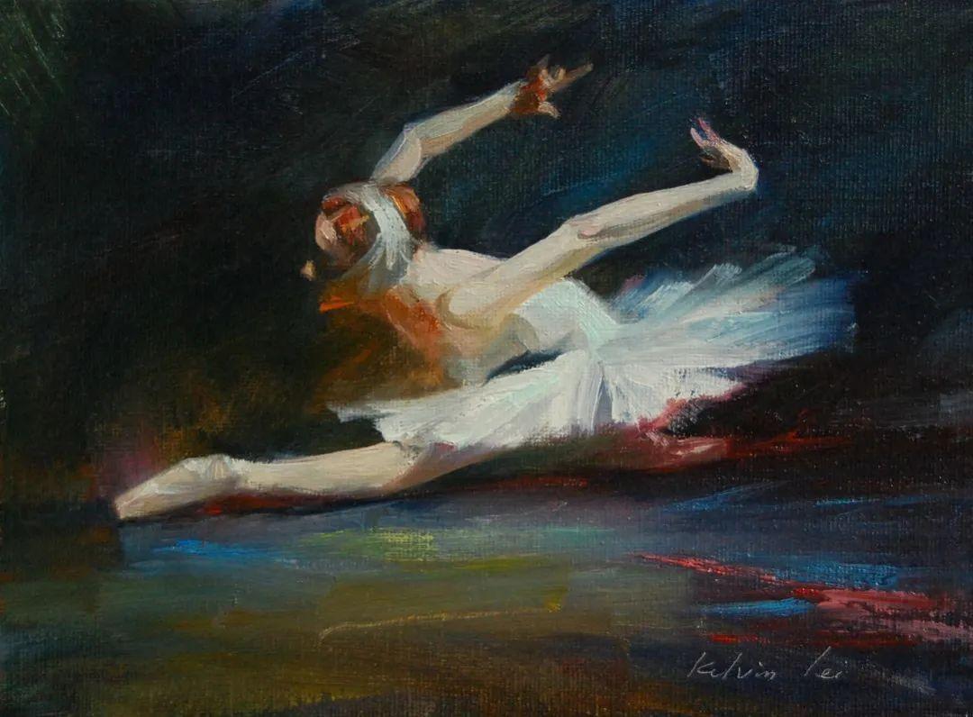 他画中的舞女,有种静谧的美!美籍华裔画家凯文·雷插图13