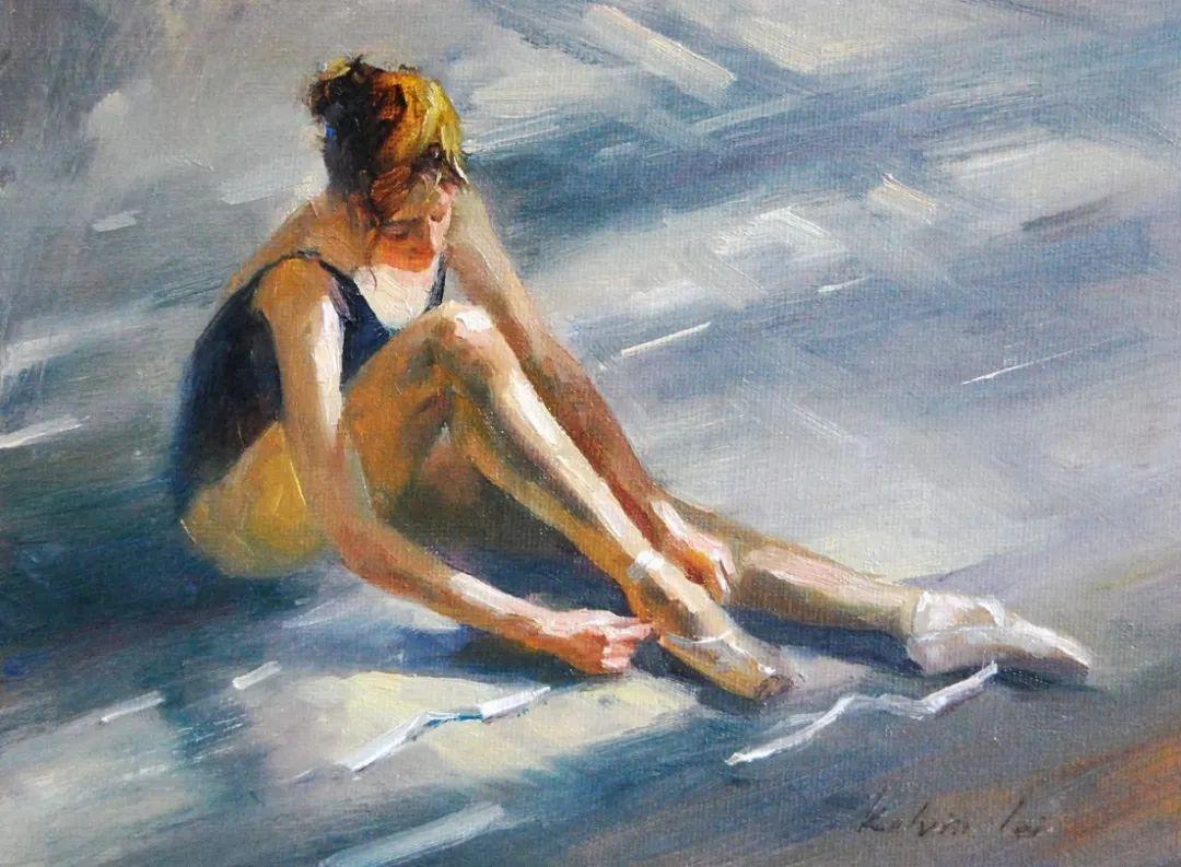 他画中的舞女,有种静谧的美!美籍华裔画家凯文·雷插图14
