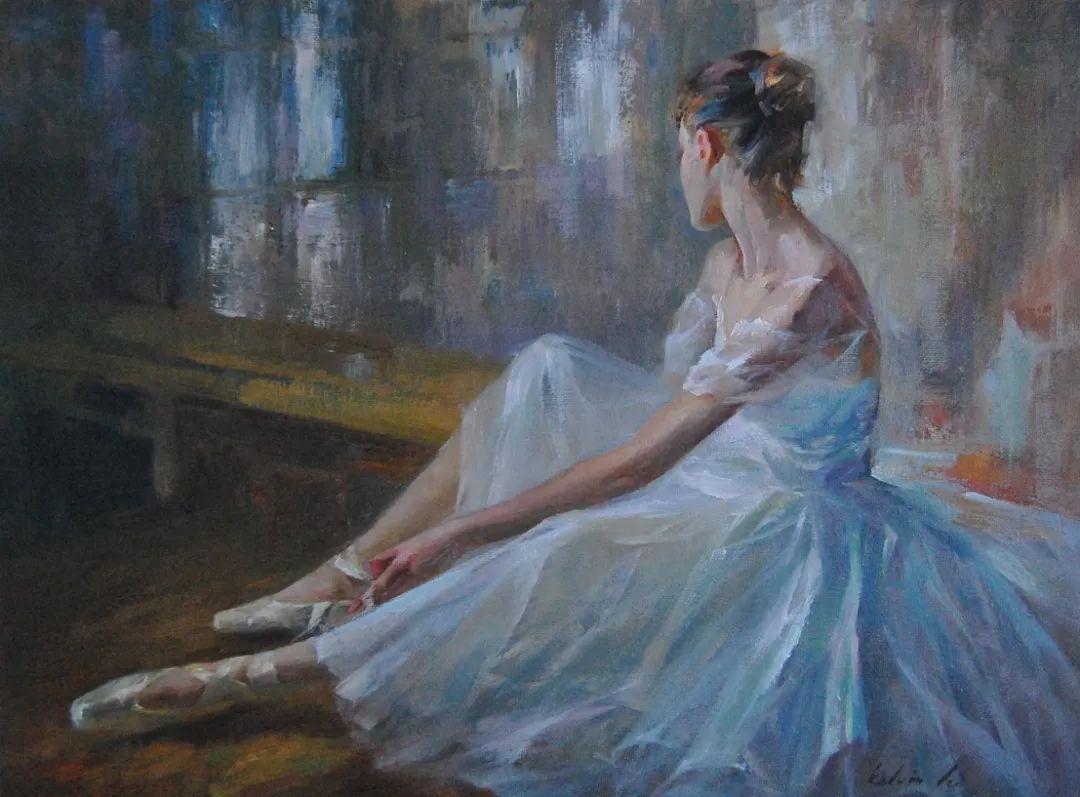 他画中的舞女,有种静谧的美!美籍华裔画家凯文·雷插图15