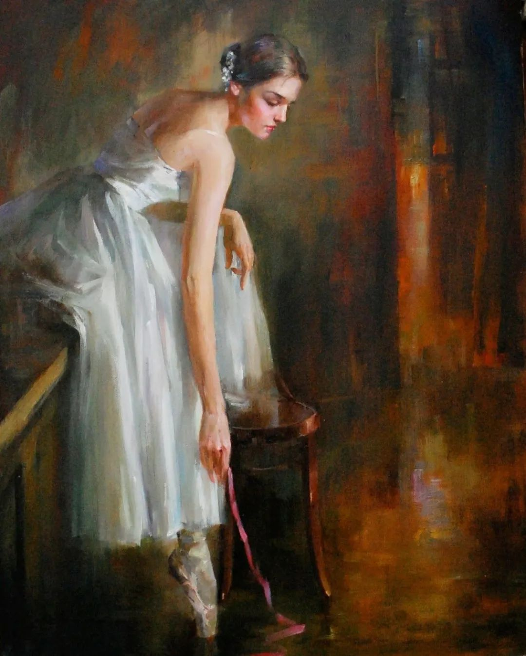 他画中的舞女,有种静谧的美!美籍华裔画家凯文·雷插图16