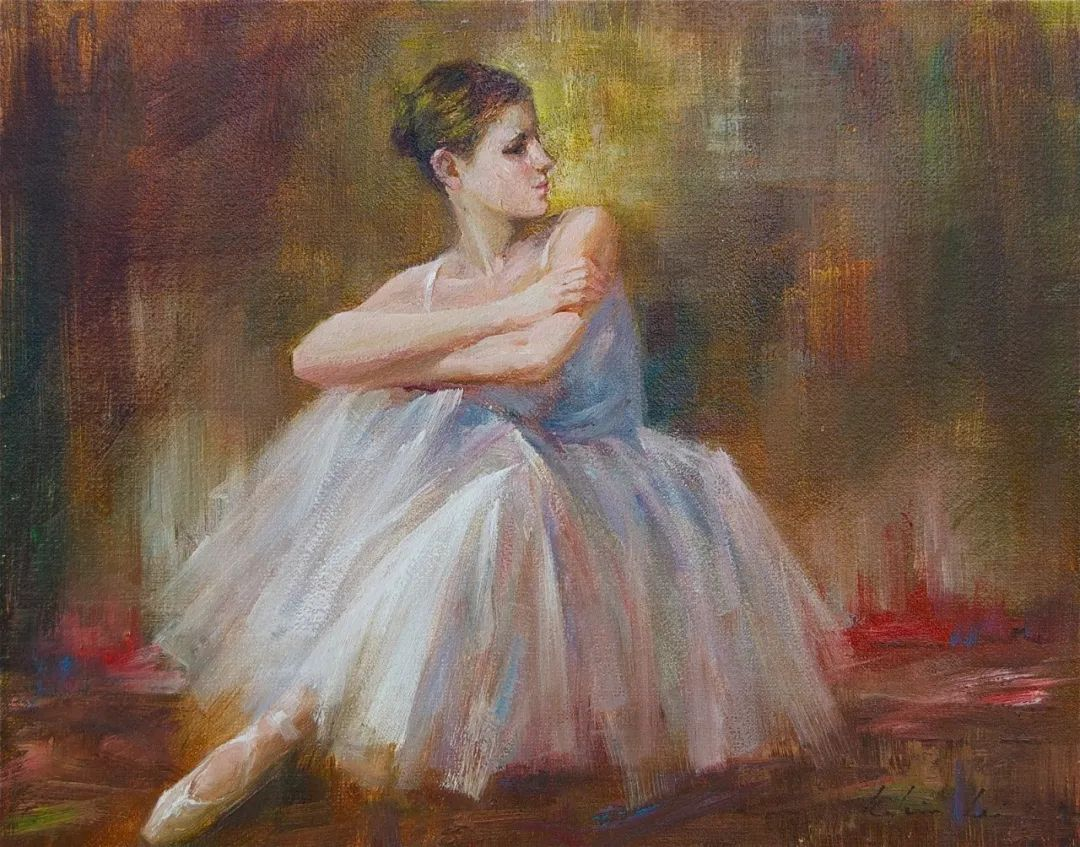 他画中的舞女,有种静谧的美!美籍华裔画家凯文·雷插图17
