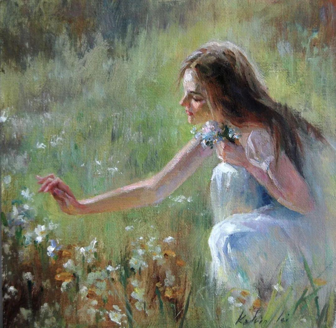 他画中的舞女,有种静谧的美!美籍华裔画家凯文·雷插图18