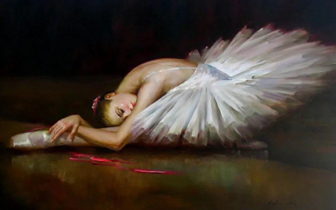 他画中的舞女,有种静谧的美!美籍华裔画家凯文·雷插图19