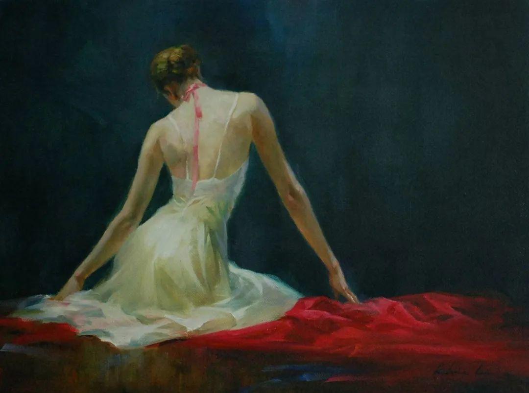 他画中的舞女,有种静谧的美!美籍华裔画家凯文·雷插图20