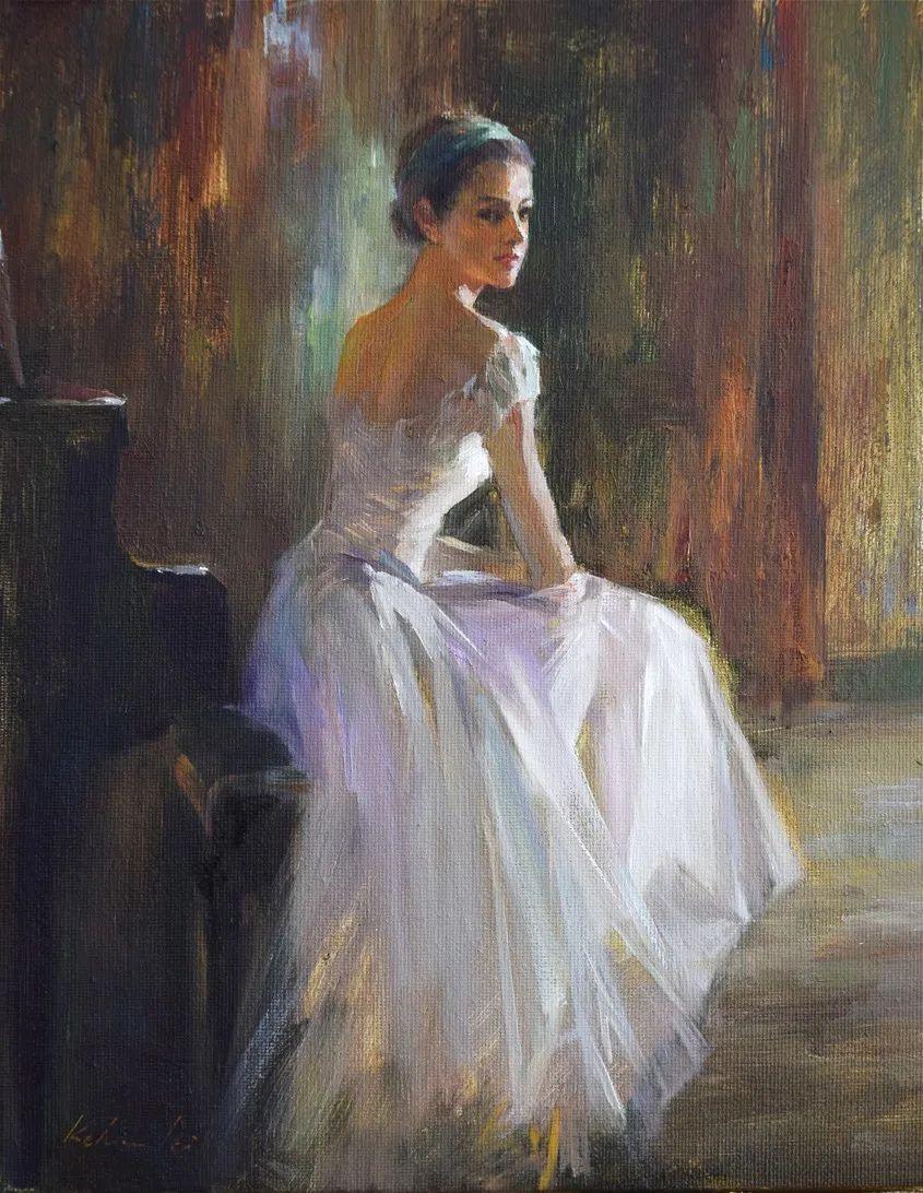 他画中的舞女,有种静谧的美!美籍华裔画家凯文·雷插图21