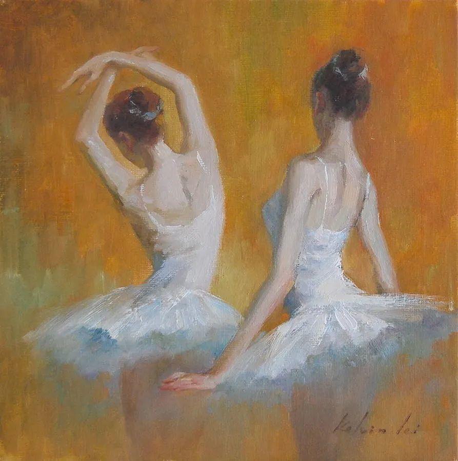 他画中的舞女,有种静谧的美!美籍华裔画家凯文·雷插图22