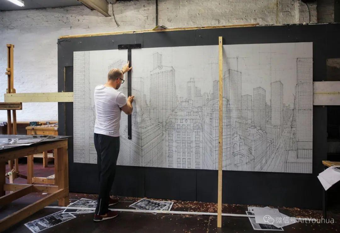 咋看以为是照片,原来是手绘,太牛了!英国艺术家内森·沃尔什插图23