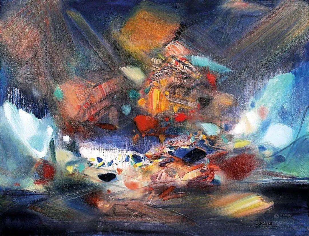以色彩写诗,具象转抽象,朱德群作品欣赏 (高清)插图1