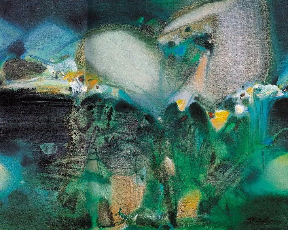 以色彩写诗,具象转抽象,朱德群作品欣赏 (高清)插图5