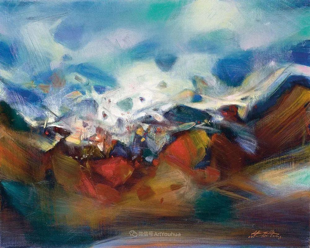 以色彩写诗,具象转抽象,朱德群作品欣赏 (高清)插图7