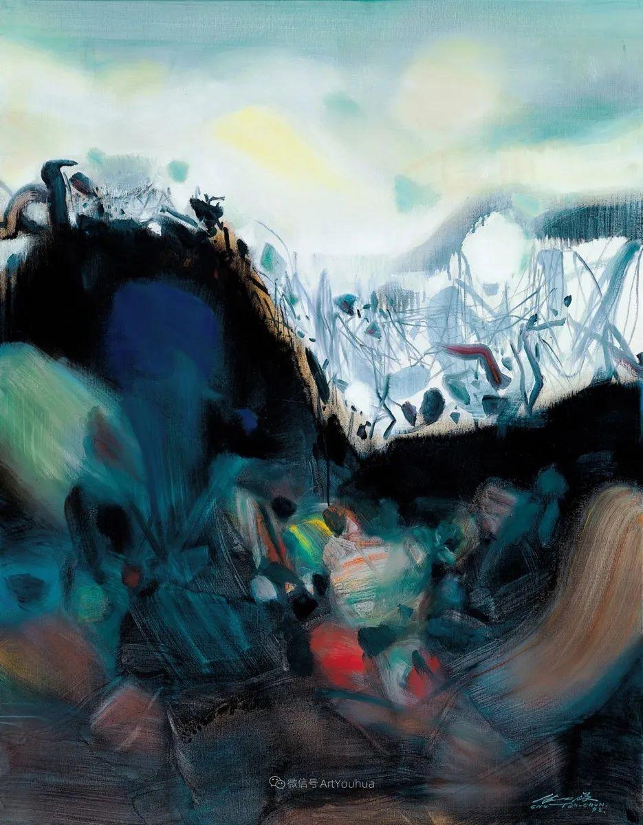 以色彩写诗,具象转抽象,朱德群作品欣赏 (高清)插图9