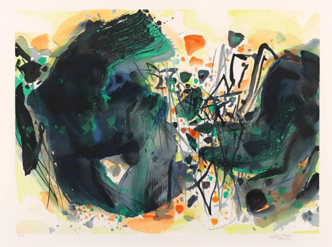 以色彩写诗,具象转抽象,朱德群作品欣赏 (高清)插图11