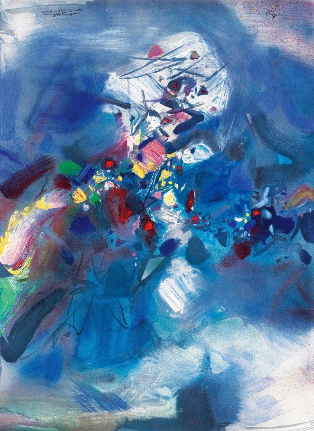 以色彩写诗,具象转抽象,朱德群作品欣赏 (高清)插图13