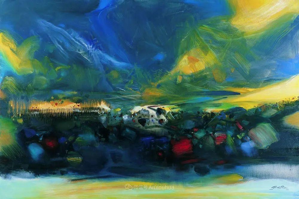 以色彩写诗,具象转抽象,朱德群作品欣赏 (高清)插图15