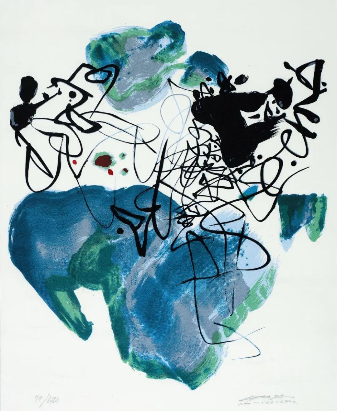 以色彩写诗,具象转抽象,朱德群作品欣赏 (高清)插图17