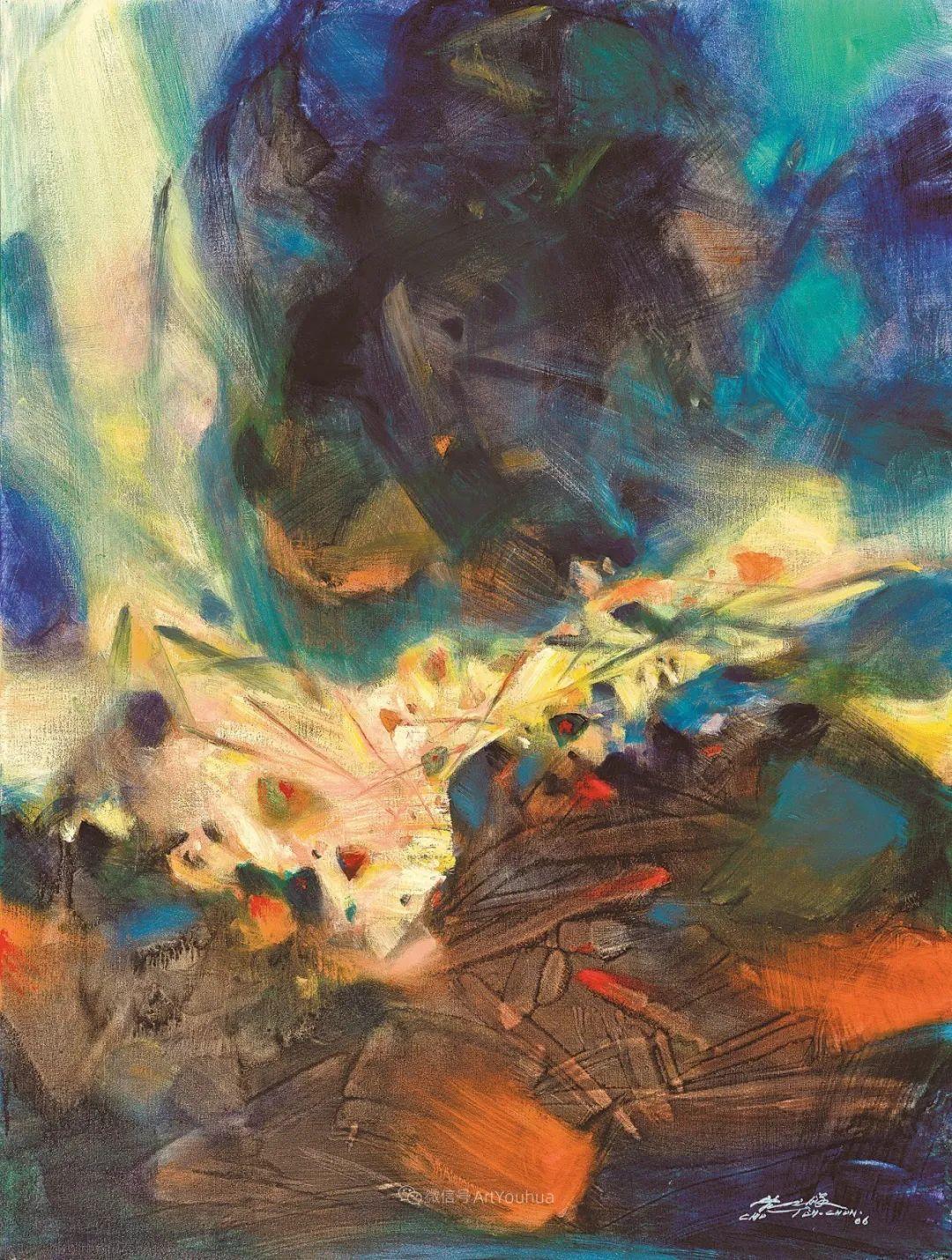 以色彩写诗,具象转抽象,朱德群作品欣赏 (高清)插图19