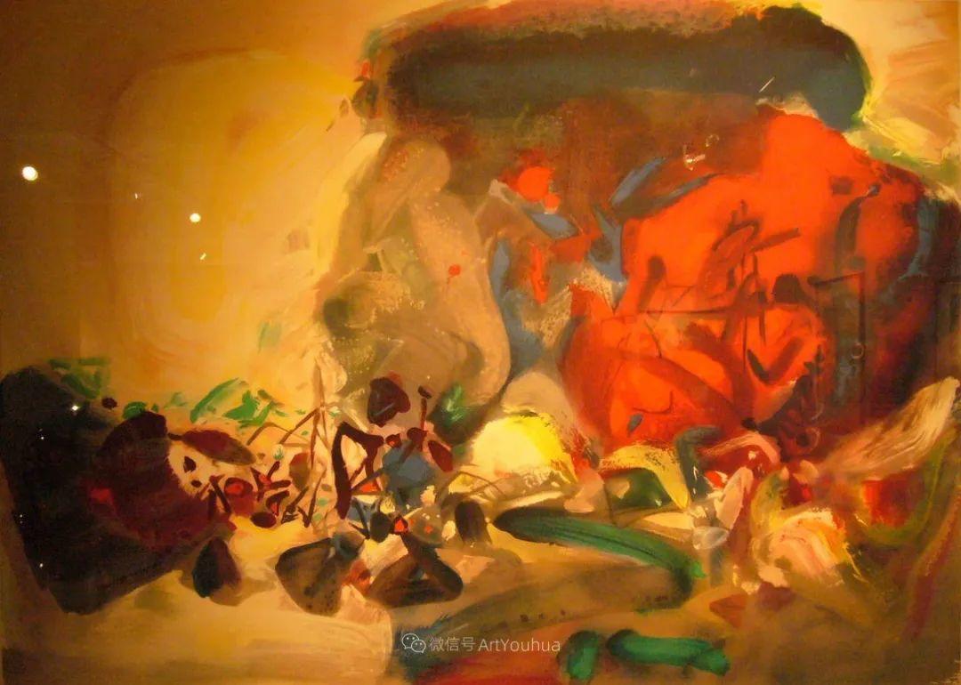 以色彩写诗,具象转抽象,朱德群作品欣赏 (高清)插图21