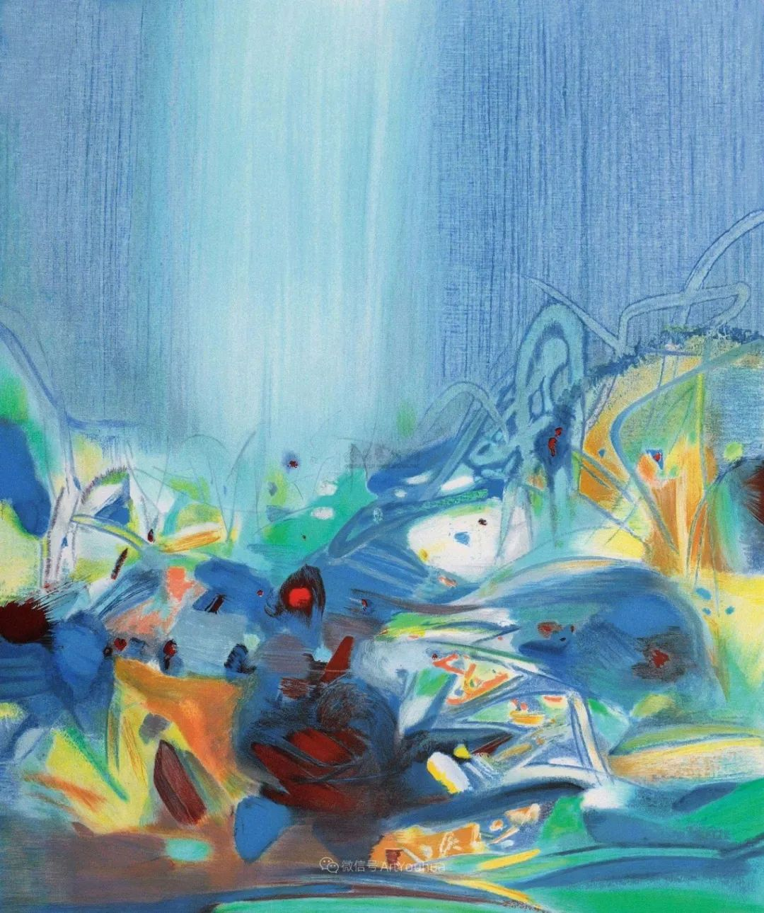 以色彩写诗,具象转抽象,朱德群作品欣赏 (高清)插图25