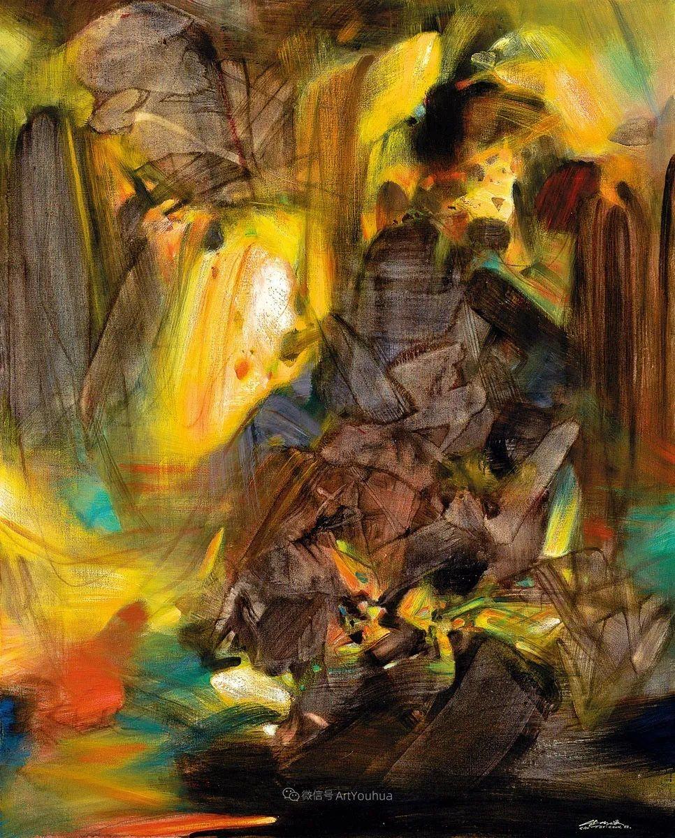 以色彩写诗,具象转抽象,朱德群作品欣赏 (高清)插图27