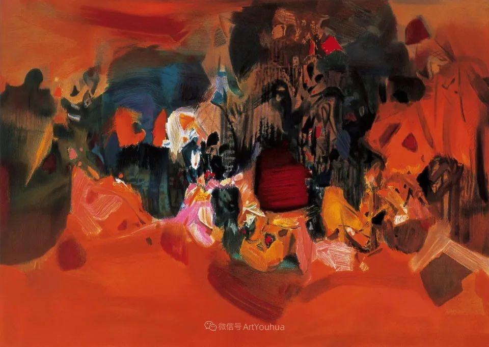 以色彩写诗,具象转抽象,朱德群作品欣赏 (高清)插图29