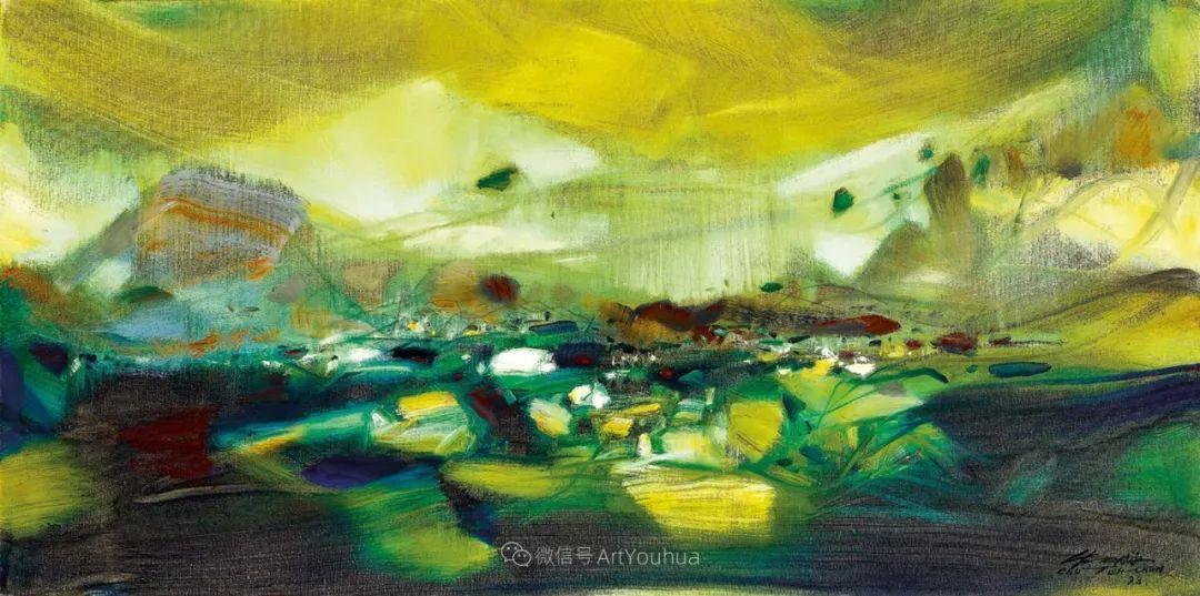 以色彩写诗,具象转抽象,朱德群作品欣赏 (高清)插图31