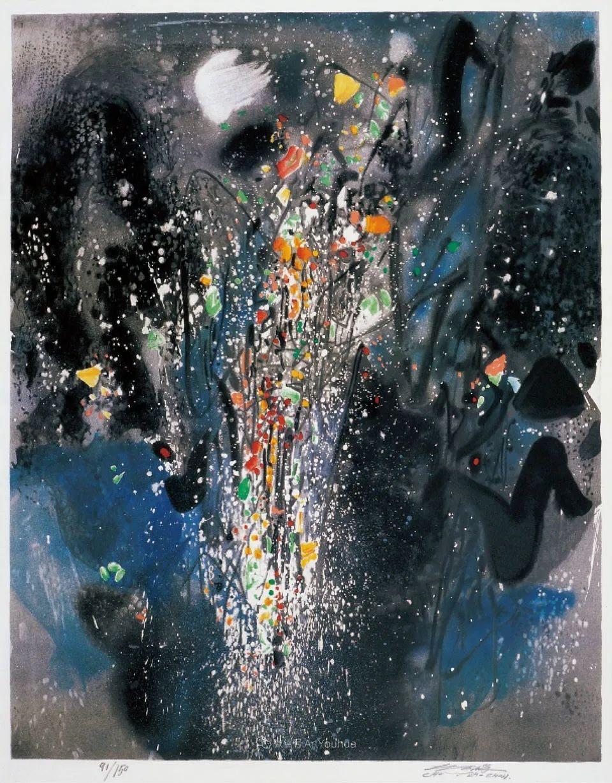 以色彩写诗,具象转抽象,朱德群作品欣赏 (高清)插图33