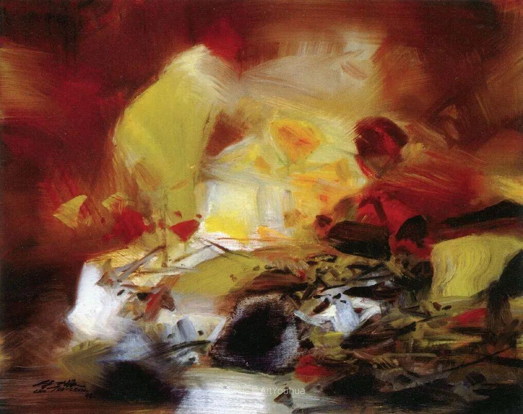 以色彩写诗,具象转抽象,朱德群作品欣赏 (高清)插图35