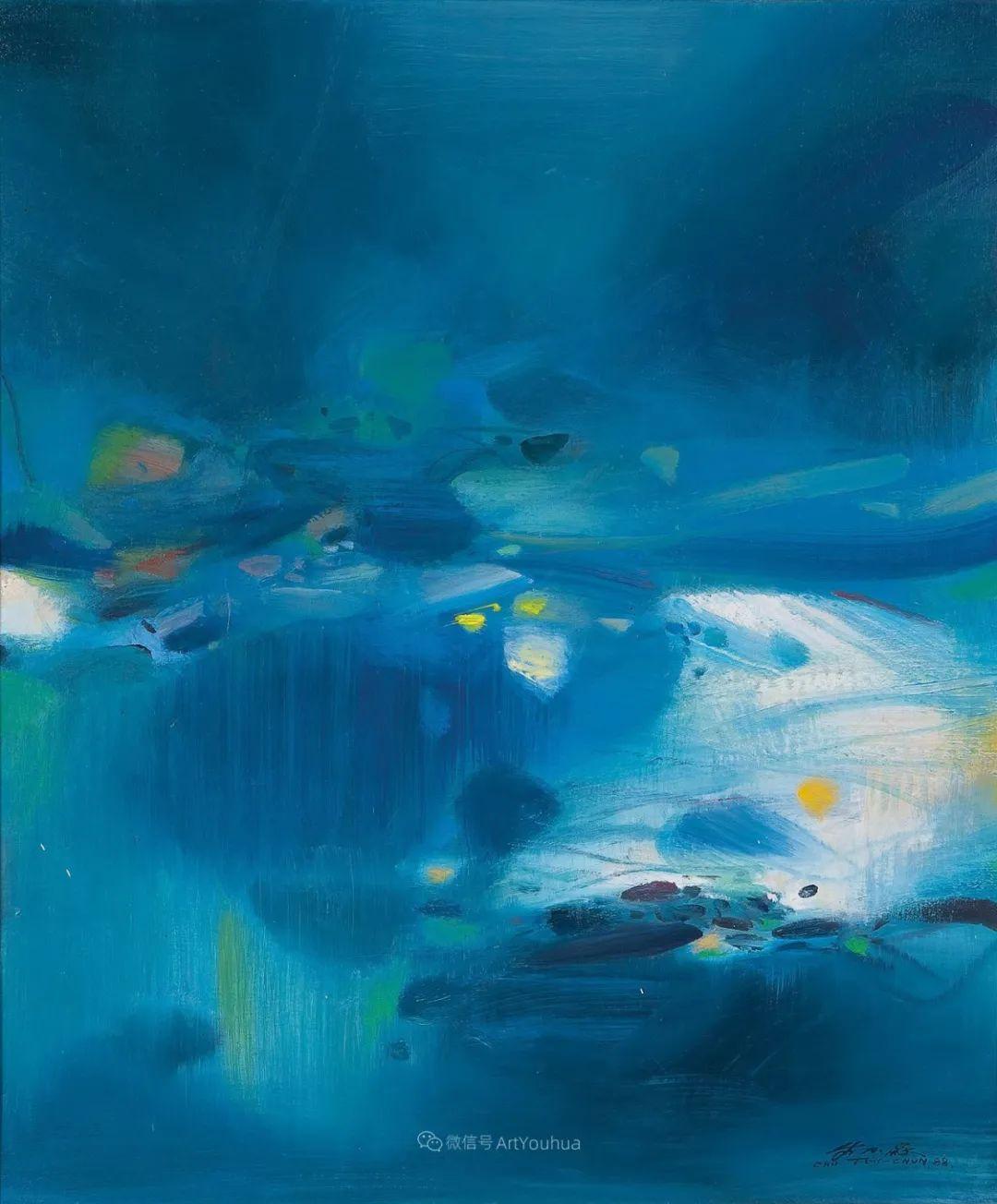 以色彩写诗,具象转抽象,朱德群作品欣赏 (高清)插图37
