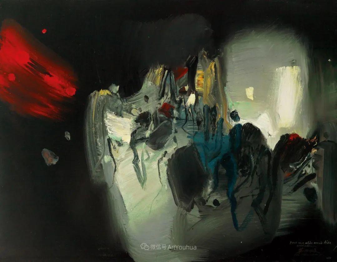 以色彩写诗,具象转抽象,朱德群作品欣赏 (高清)插图39
