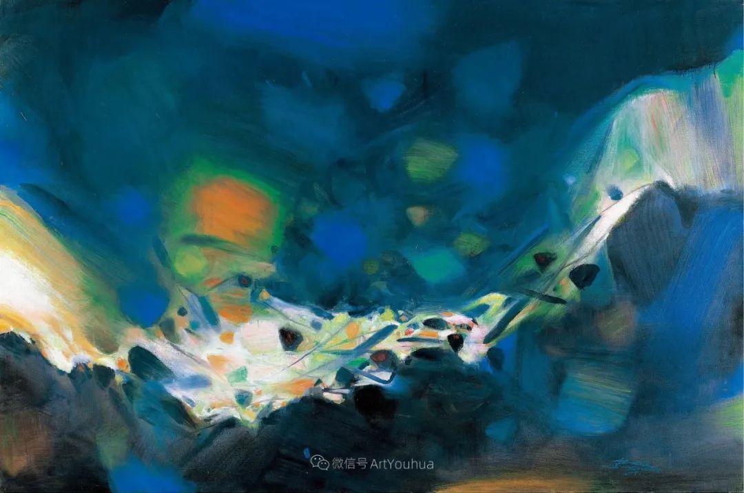 以色彩写诗,具象转抽象,朱德群作品欣赏 (高清)插图41