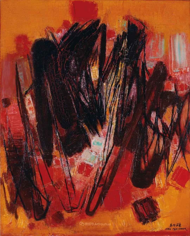 以色彩写诗,具象转抽象,朱德群作品欣赏 (高清)插图43