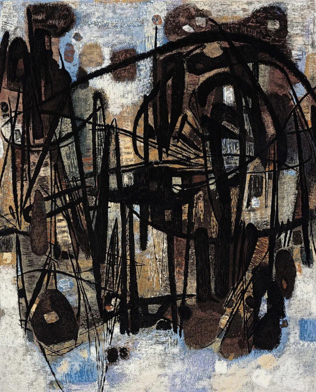 以色彩写诗,具象转抽象,朱德群作品欣赏 (高清)插图45