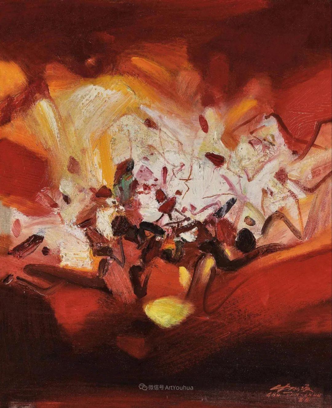 以色彩写诗,具象转抽象,朱德群作品欣赏 (高清)插图47