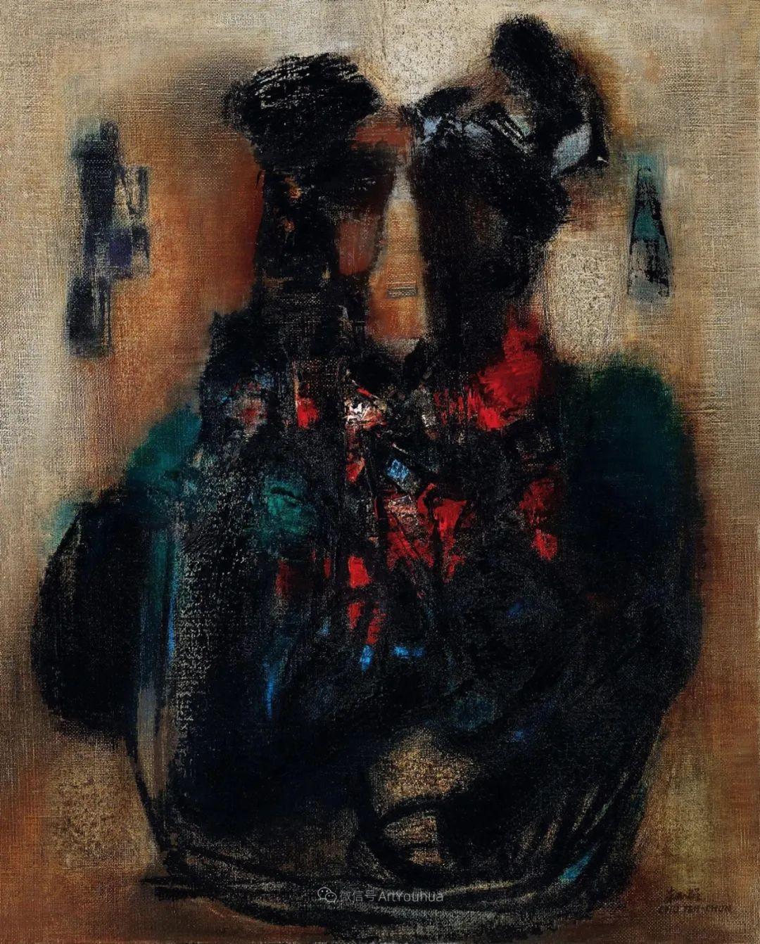 以色彩写诗,具象转抽象,朱德群作品欣赏 (高清)插图49
