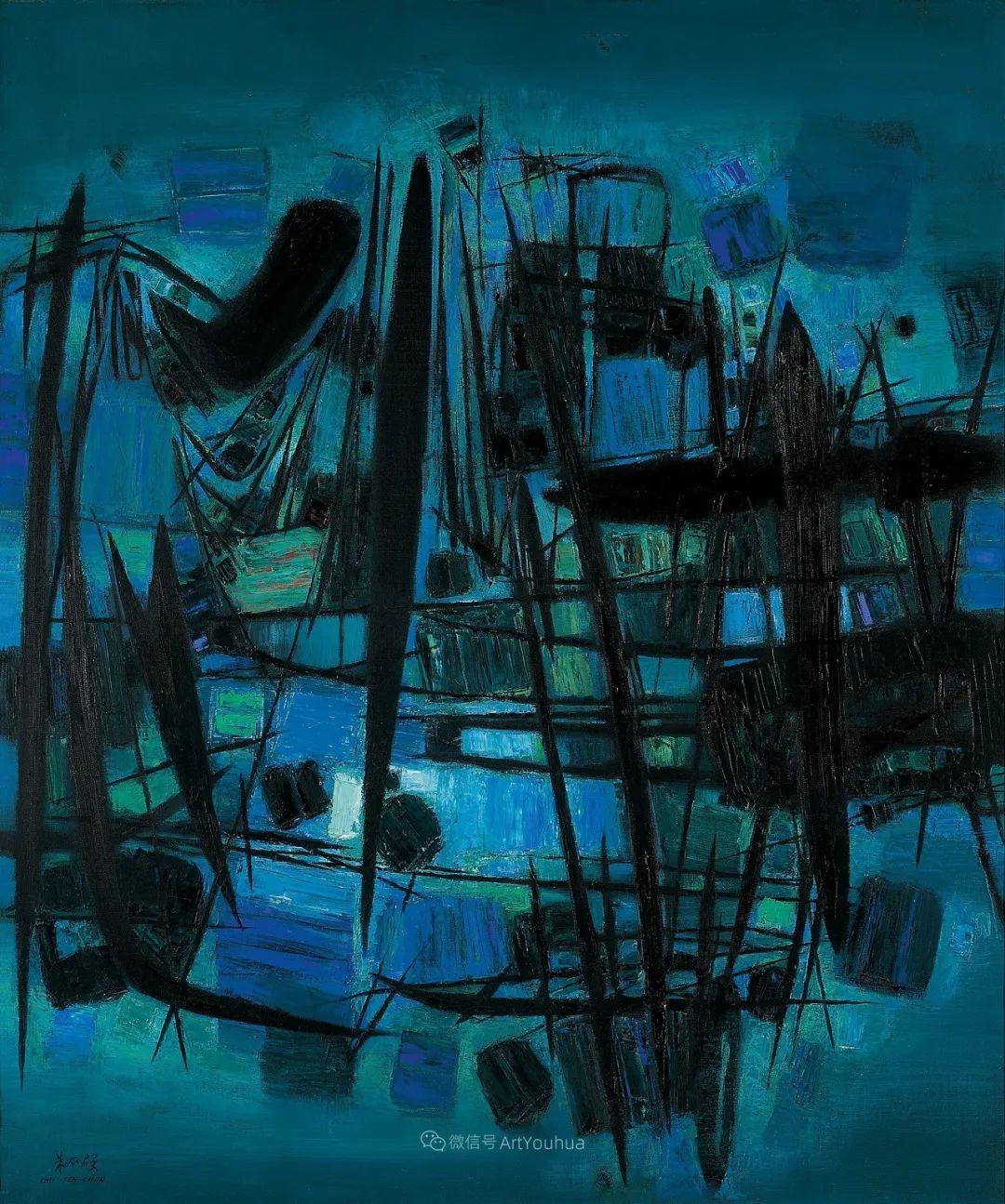 以色彩写诗,具象转抽象,朱德群作品欣赏 (高清)插图53