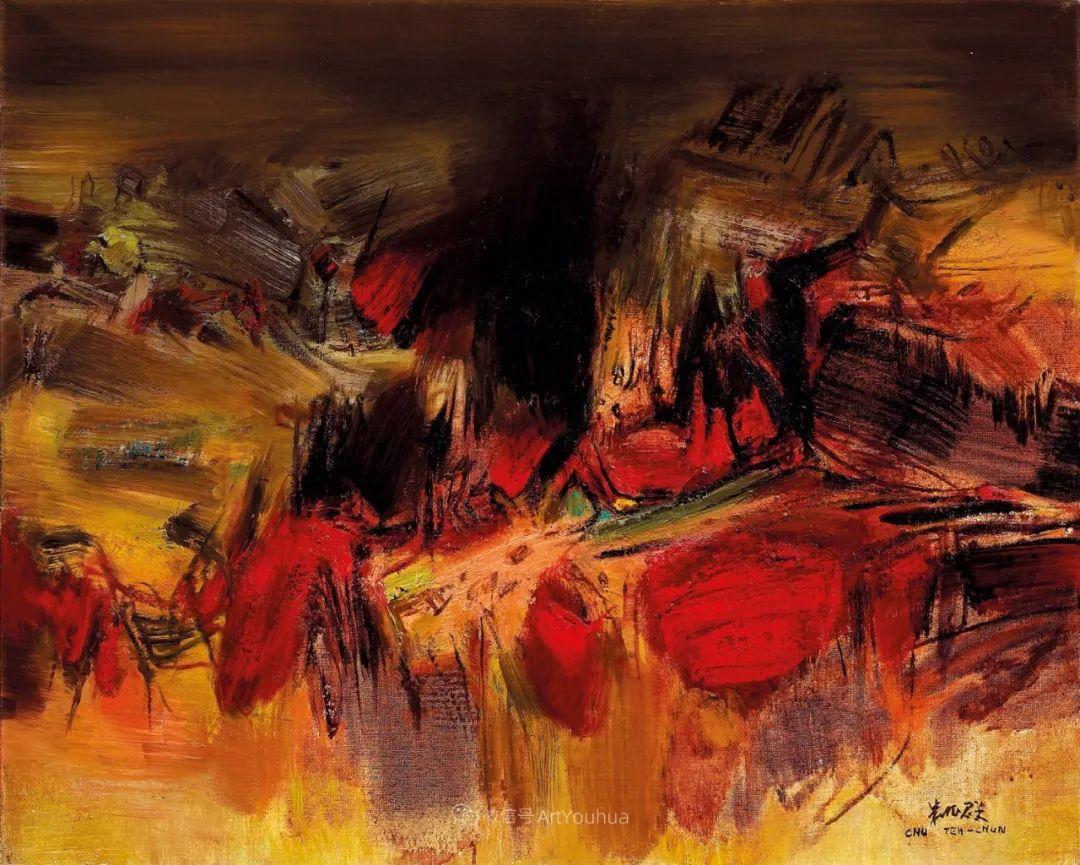 以色彩写诗,具象转抽象,朱德群作品欣赏 (高清)插图55