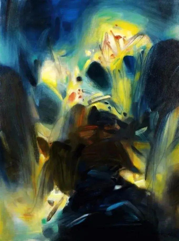 以色彩写诗,具象转抽象,朱德群作品欣赏 (高清)插图57