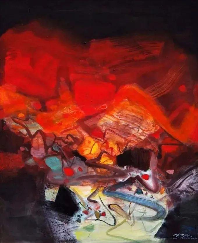 以色彩写诗,具象转抽象,朱德群作品欣赏 (高清)插图61