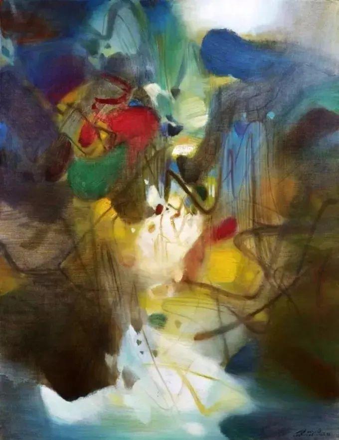 以色彩写诗,具象转抽象,朱德群作品欣赏 (高清)插图63