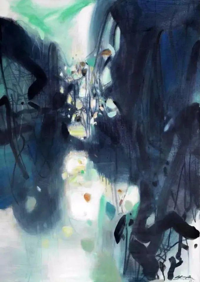 以色彩写诗,具象转抽象,朱德群作品欣赏 (高清)插图65